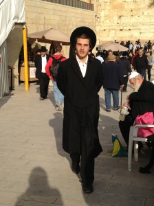 Orthodox Jew at the Western Wall