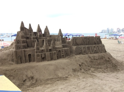 We bought a castle on the beach!