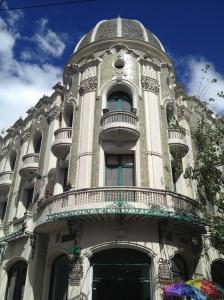 Pretty colonial architecture in Old Quito.