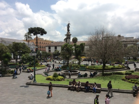 Every Latin American town has the main square.  This is called Plaza Grande or Plaza de La Independencia