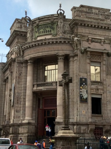 The National Bank, although the US Dollar is Ecuador's official currency.