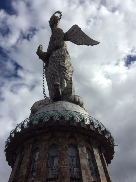 The Guardian Virgen reigns over the city from El Panecillo