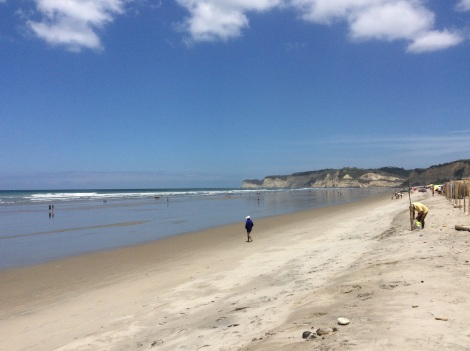 Lots of beach for walking or swimming.  The surf at Santa Marianita was so loud it kept me awake at night!