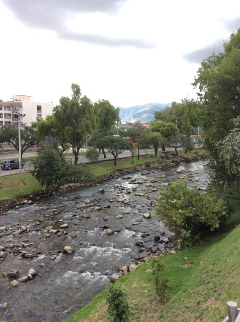 Rio Tomebamba in the city of Cuenca.