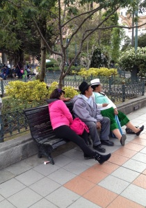 Taking a rest in Parque Calderón.