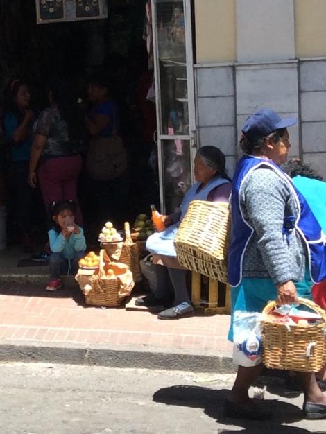 Selling along the sidewalks