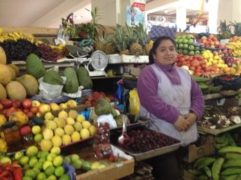 Nancy, my favorite fruit vender at the mercado.