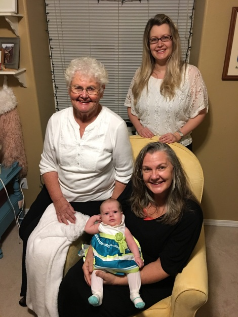 Four generations of 1st-born women.